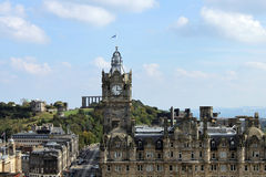 View of Edinburgh, Scotland. View from the Scott Monument, centre of Edinburgh Royalty Free Stock Photos