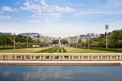 View of Eduardo VII park, Lisbon Stock Photos