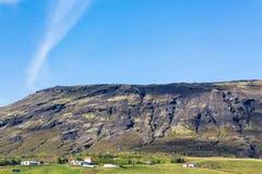 View of Eefsti-dalur settlement in Iceland. Travel to Iceland - view of Eefsti-dalur settlement in Iceland in september Stock Image