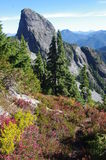 Closeup view of East Lion. Lions peaks in North Shore mountains Stock Images