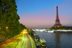 View on The Effel Tower form Bir-Hakeim bridge Stock Image