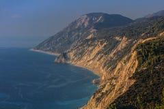 View of Egremni beach, Greece Stock Photo
