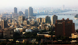 View of egypt cairo with nile. High view of cairo downtown in egypt from cairo tower Royalty Free Stock Photos