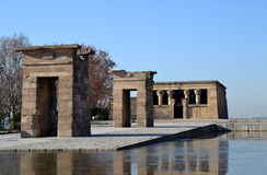 View of Egyptian Debod Temple in Madrid Royalty Free Stock Image
