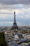 View of Eifel Tower from Arc de Triomphe Stock Photo