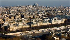 View from the Eifel Tower, Paris France Royalty Free Stock Photo