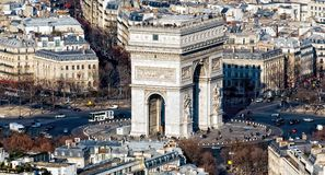 View from the Eifel Tower, Paris France Royalty Free Stock Photos