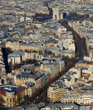 View from the Eifel Tower, Paris France Stock Photo