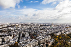 View from eiffel. On the eifel you have a graet view over the city Stock Photos