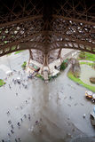 View from the Eiffel Tower. View from the first floor of the French Eiffel Tower stock photo