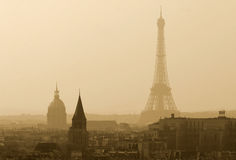 View on the Eiffel Tower Royalty Free Stock Images
