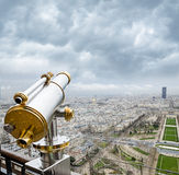 View from the Eiffel Tower at the Champ de Mars Royalty Free Stock Photo