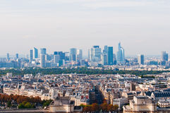 View from Eiffel tower at Defense Stock Images