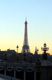 View on Eiffel Tower in the evening Stock Images