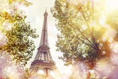 View on Eiffel tower. Stock Photography