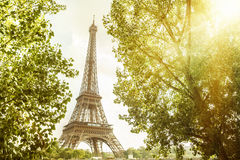 View on Eiffel tower. Royalty Free Stock Image