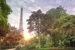 View on Eiffel tower. Stock Images