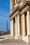 View of  Eiffel Tower from Hotel des invalides, Stock Photo