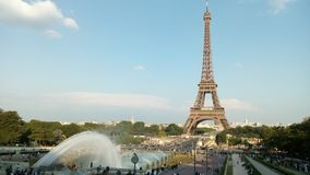 View of Eiffel Tower from Jardins du Trocadero in Paris, France. royalty free stock images