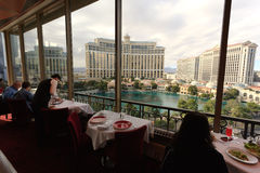 View from the Eiffel Tower, Las Vegas Stock Photography