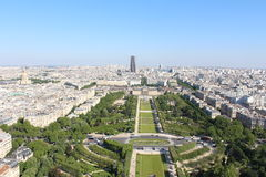 View from the Eiffel Tower. Military School and Hotel Des Invalides Royalty Free Stock Photography