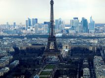 View of the Eiffel Tower from Montparnasse royalty free stock photos