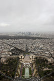 A View from The Eiffel Tower. One Winter Day before New Year Eve we were taking a walk around Paris and we got to the top of the Eiffel Tower Royalty Free Stock Photography