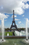 View of Eiffel Tower over fountains, Paris Royalty Free Stock Image