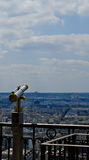 View from the Eiffel tower. Over Paris Stock Photos