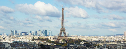 View on Eiffel Tower and panorama of Paris Stock Image
