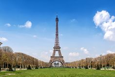 View from Eiffel Tower Paris Royalty Free Stock Photography