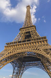 View on Eiffel Tower in Paris from below Stock Photography