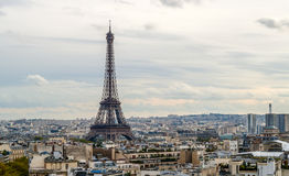 View of the Eiffel Tower. Paris, France. View of the Eiffel Tower from the Arc de Triomphe. Paris, France Stock Photography