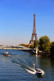 View on Eiffel Tower, Paris, France Royalty Free Stock Photos