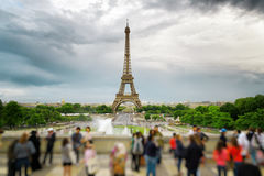 The view of the Eiffel Tower, Paris, France. Royalty Free Stock Photography
