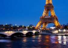 View on Eiffel Tower in Paris, France Royalty Free Stock Photography