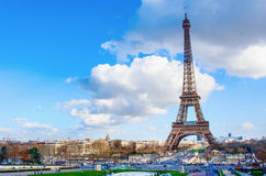 View on Eiffel Tower in Paris, France Stock Photography