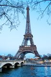View on Eiffel Tower in Paris, France Royalty Free Stock Images
