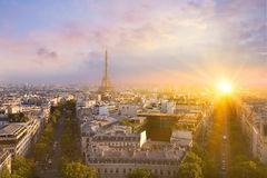 View of Eiffel tower and Paris. Stock Image