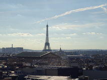 View of the Eiffel Tower and the roofs of Paris Stock Image