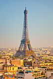 View on Eiffel tower at sunset Royalty Free Stock Image