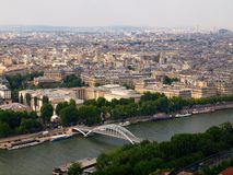 View from Eiffel tower to the Paris city Stock Photo