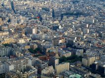 View from Eiffel tower to the Paris city Royalty Free Stock Photos