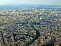 View from Eiffel tower to the Paris city Stock Photos