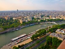 View from Eiffel tower to the Paris city Stock Images