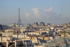 View of Eiffel Tower from the top of Centre Georges Pompidou. PARIS, FRANCE Stock Photos