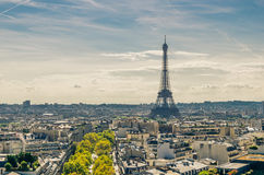 View of the Eiffel tower Stock Images