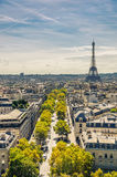 View of Eiffel tower Royalty Free Stock Images