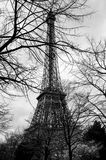 View of the Eiffel tower in winter, Paris, Fran Stock Images