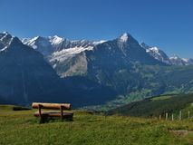 View Of The Eiger And Grindelwald Royalty Free Stock Photography